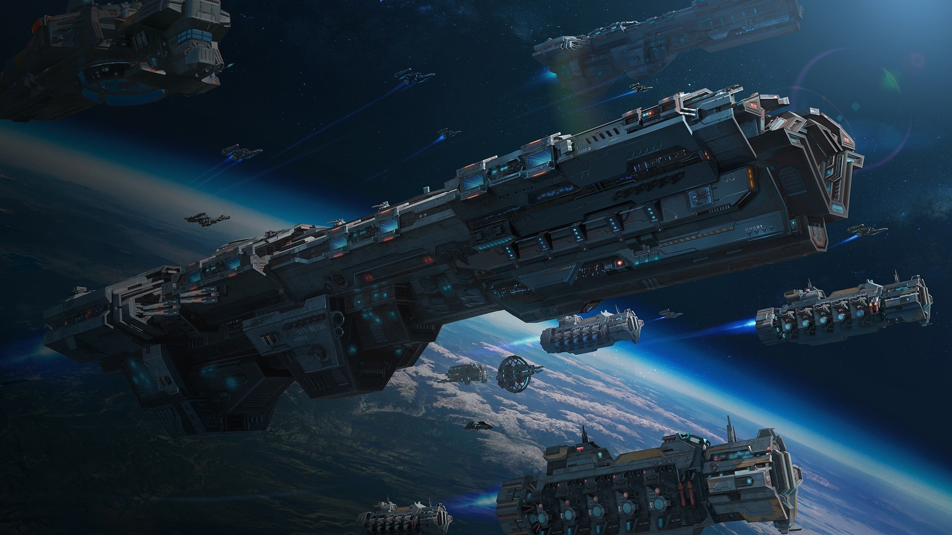 Spaceships Art computer wallpaper