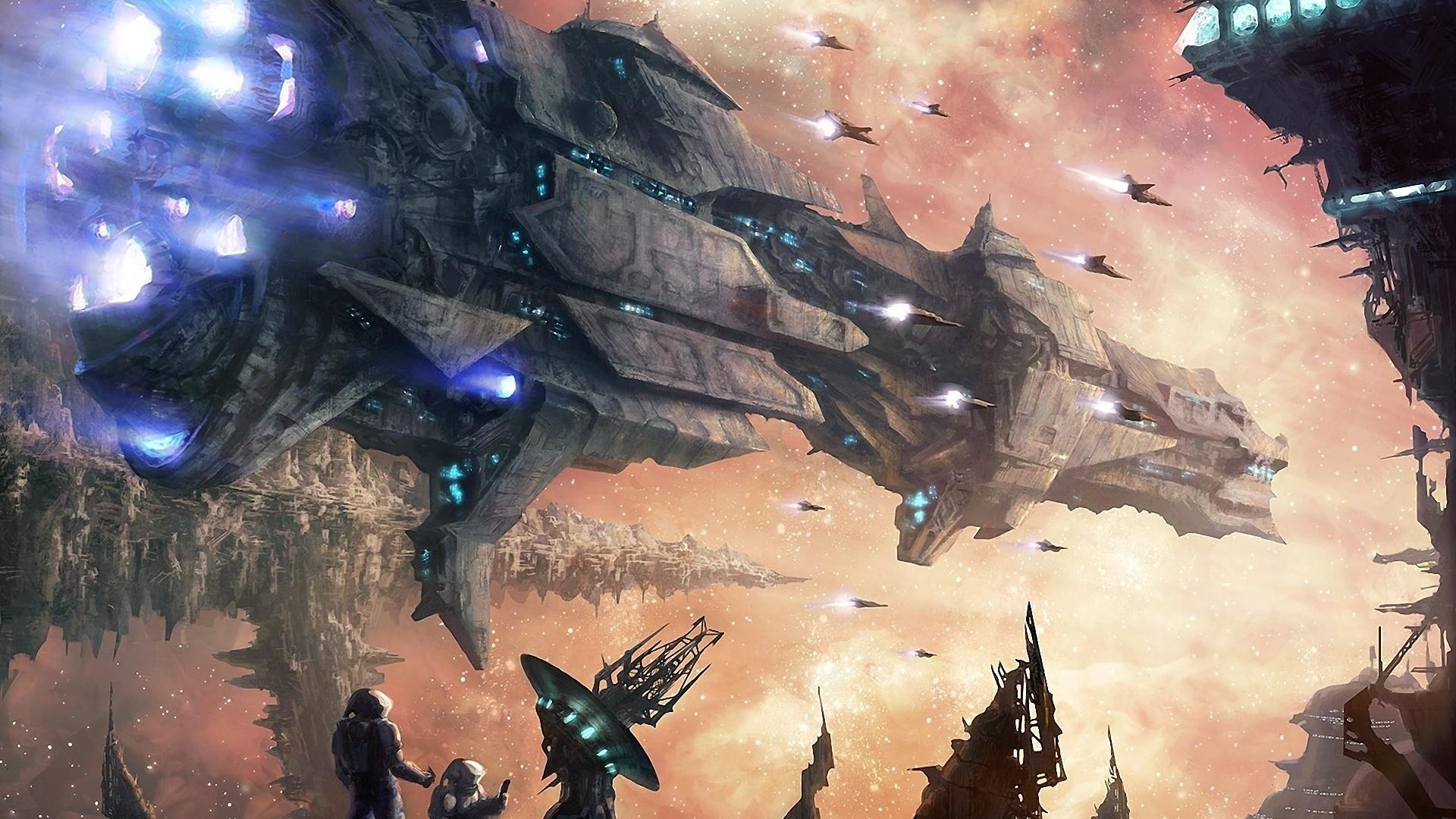 Spaceships Art wallpaper photo hd