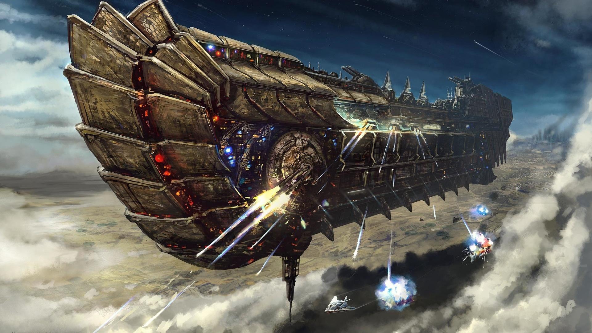 Spaceships Art Wallpaper