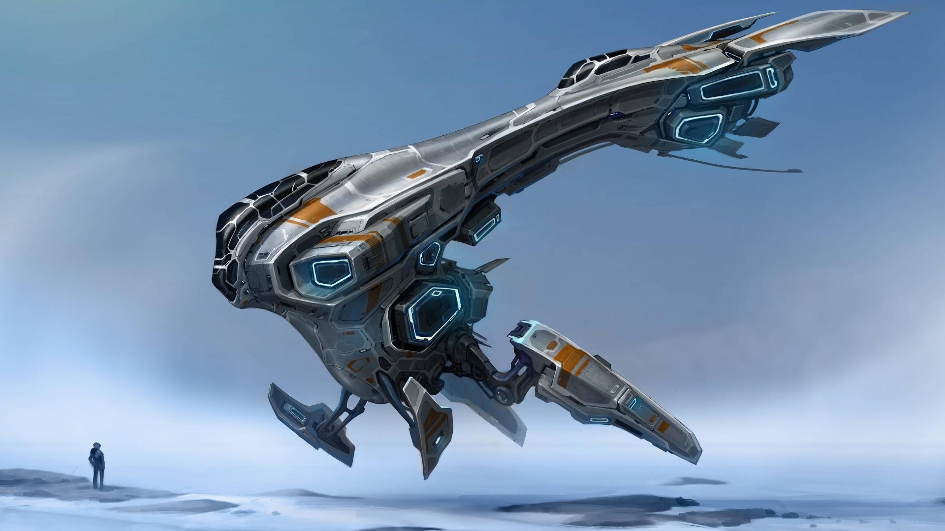 Spaceships Art desktop wallpaper hd