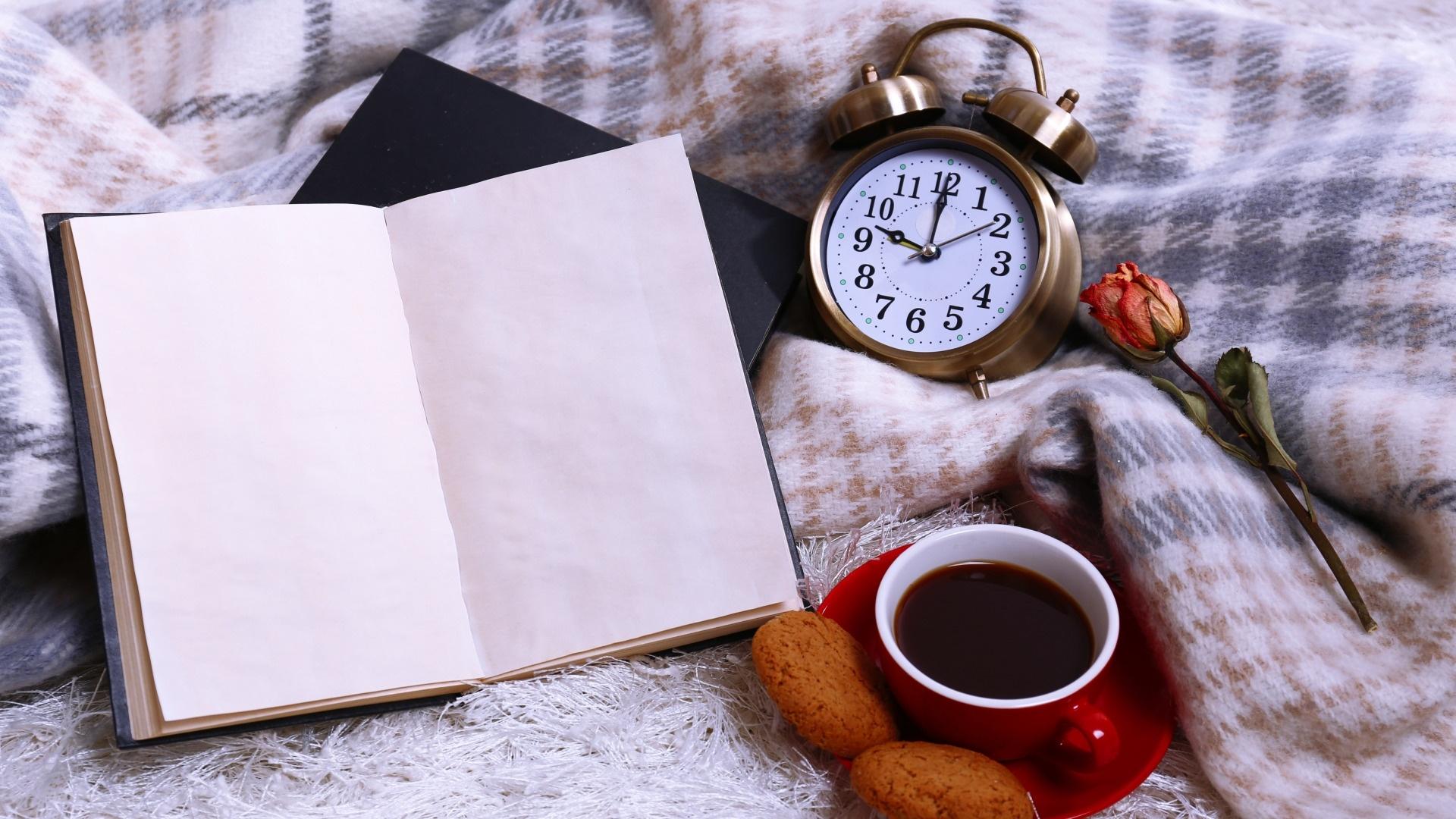 Book And Coffee Desktop Wallpaper