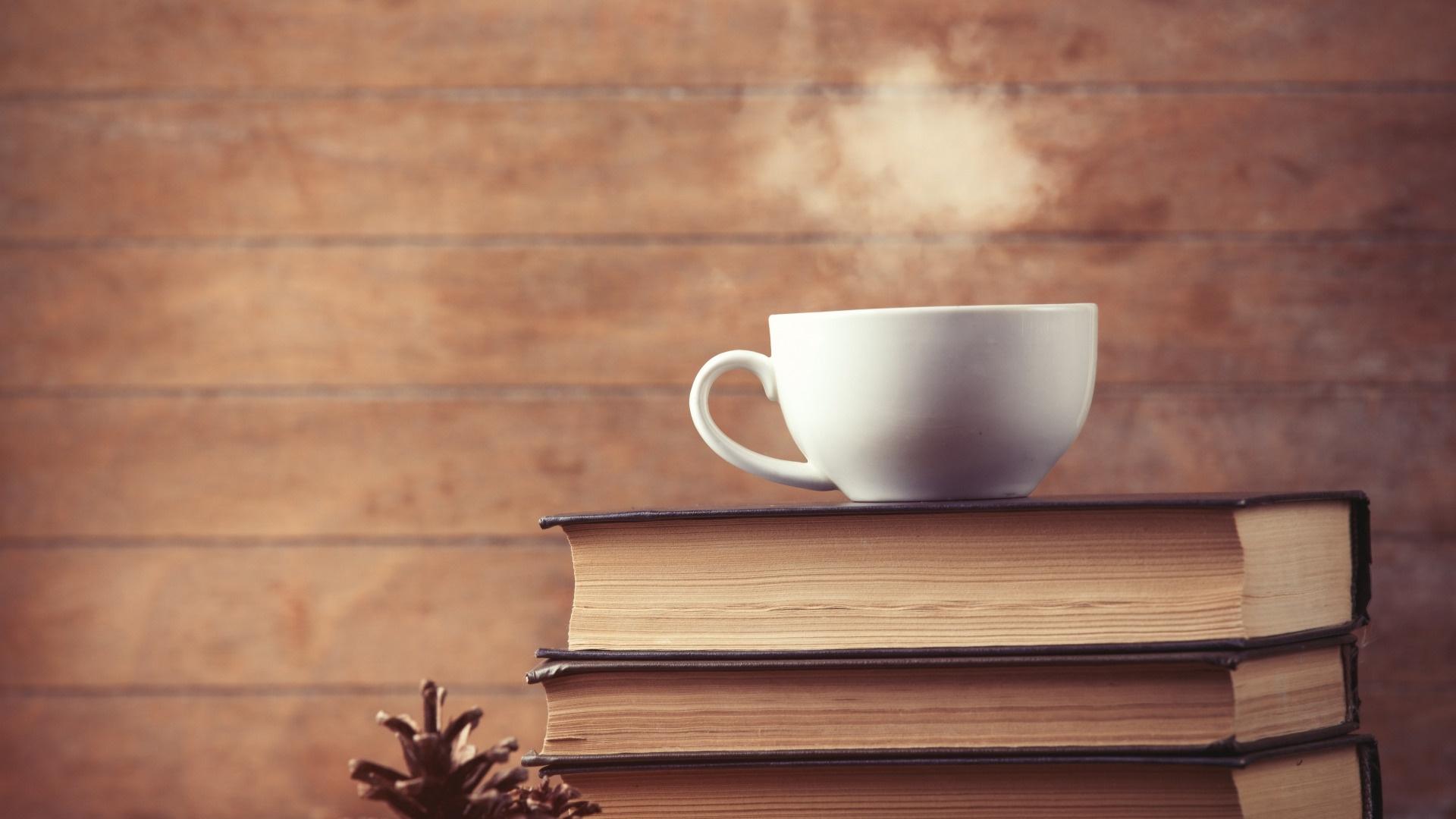 Book And Coffee desktop wallpaper hd