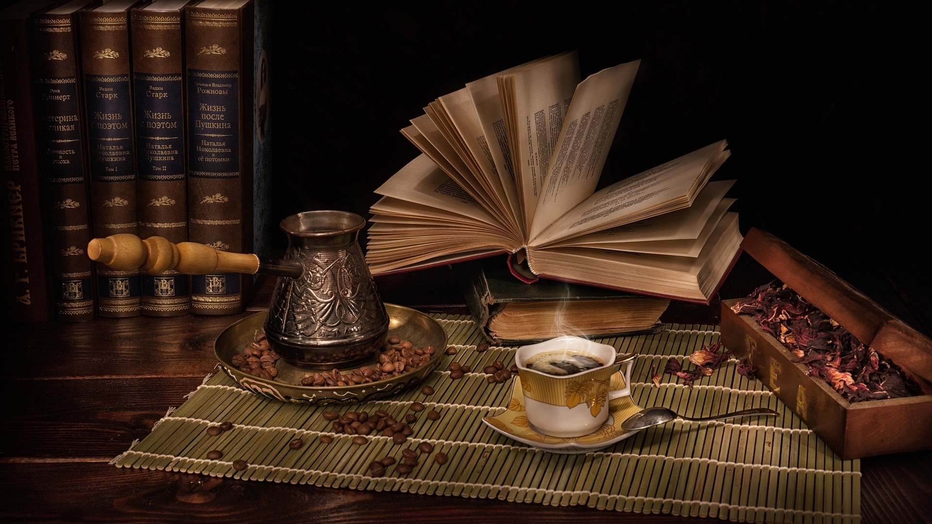 Book And Coffee wallpaper for pc