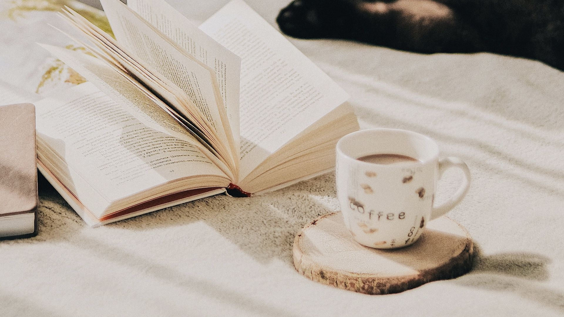 Book And Coffee computer wallpaper