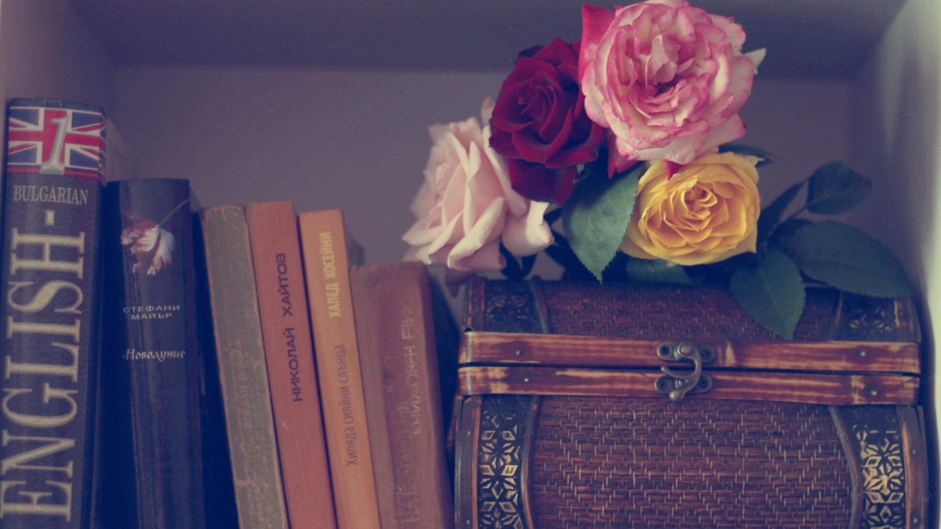 Book And Flower wallpaper for desktop