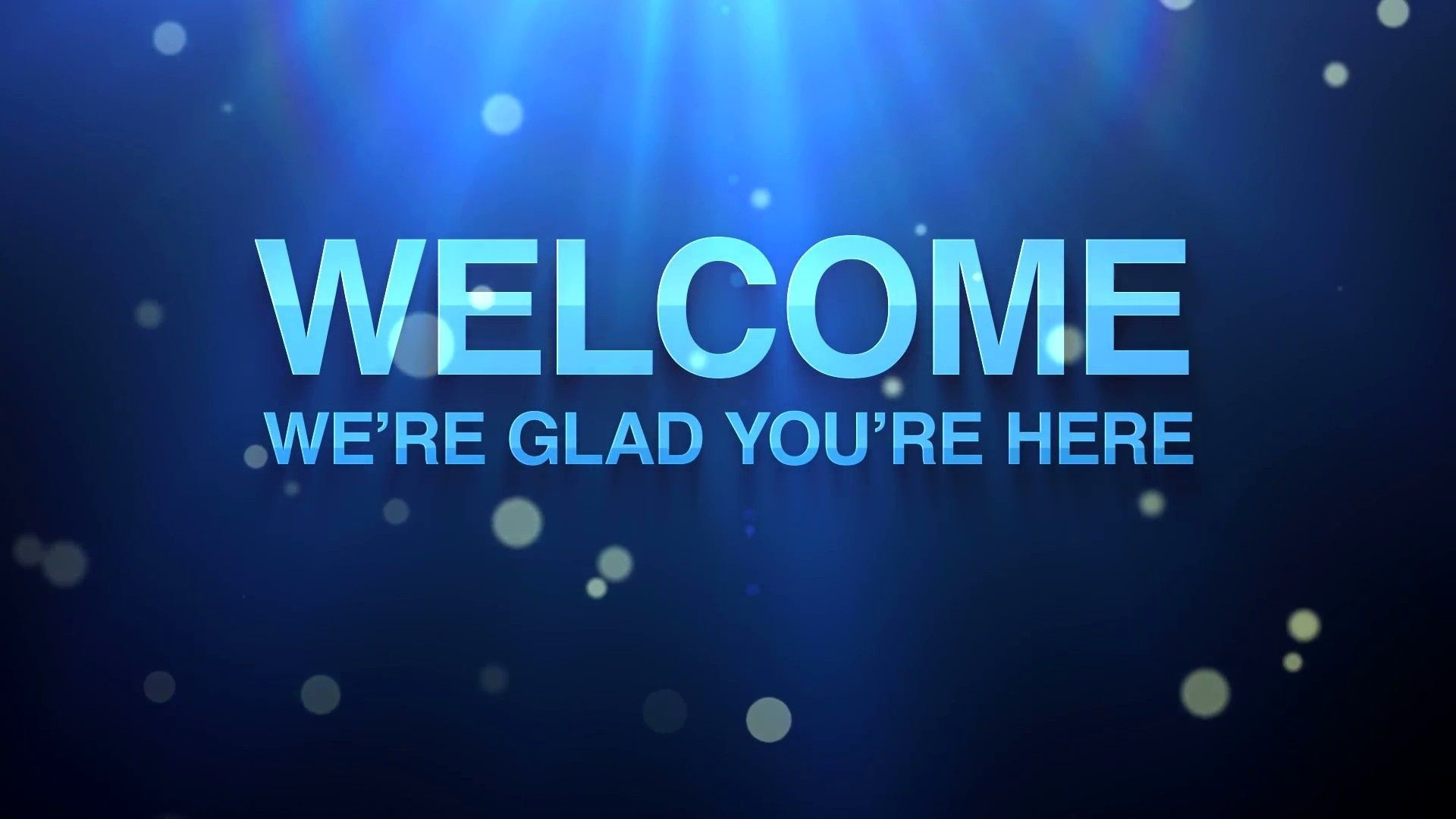 Welcome wallpaper for computer