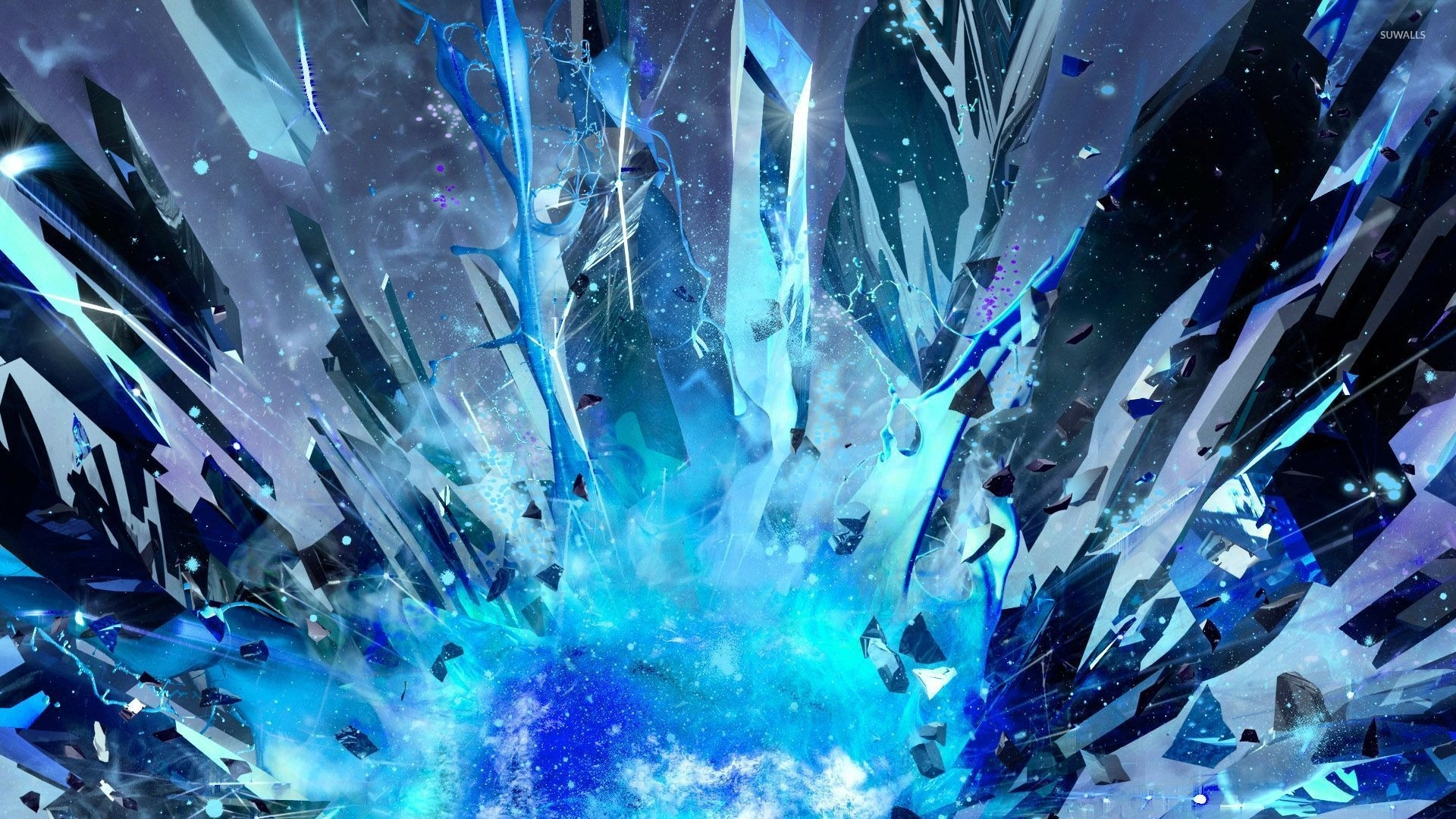 Crystals Desktop Wallpaper