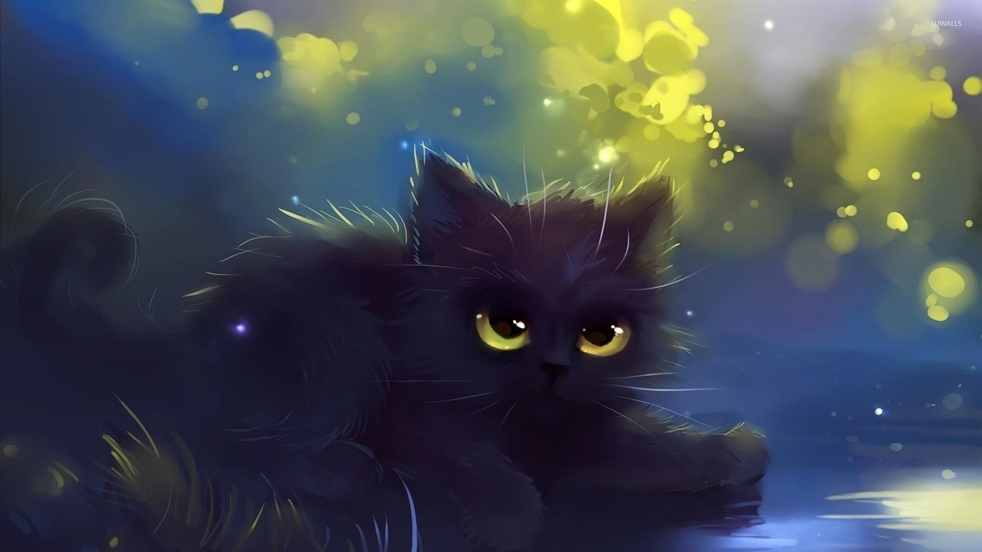 Drawn Cats computer wallpaper