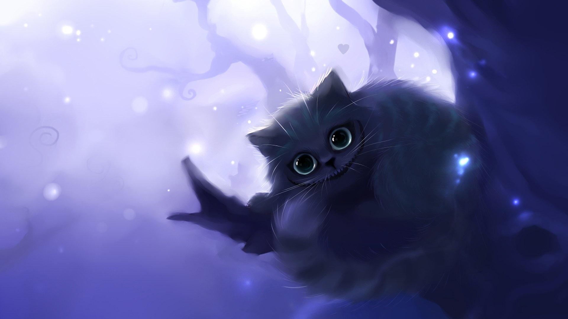 Drawn Cats wallpaper for desktop