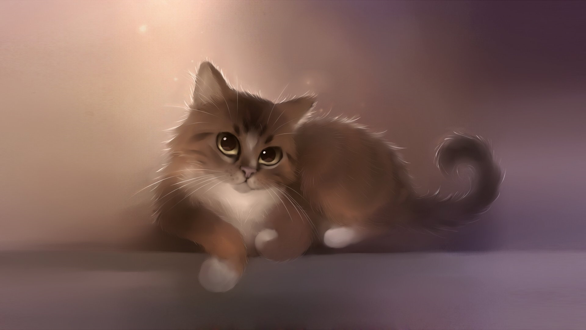 Drawn Cats Desktop Wallpaper