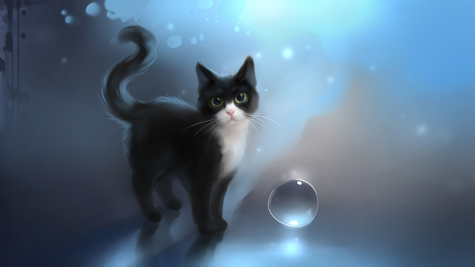 Drawn Cats desktop wallpaper hd