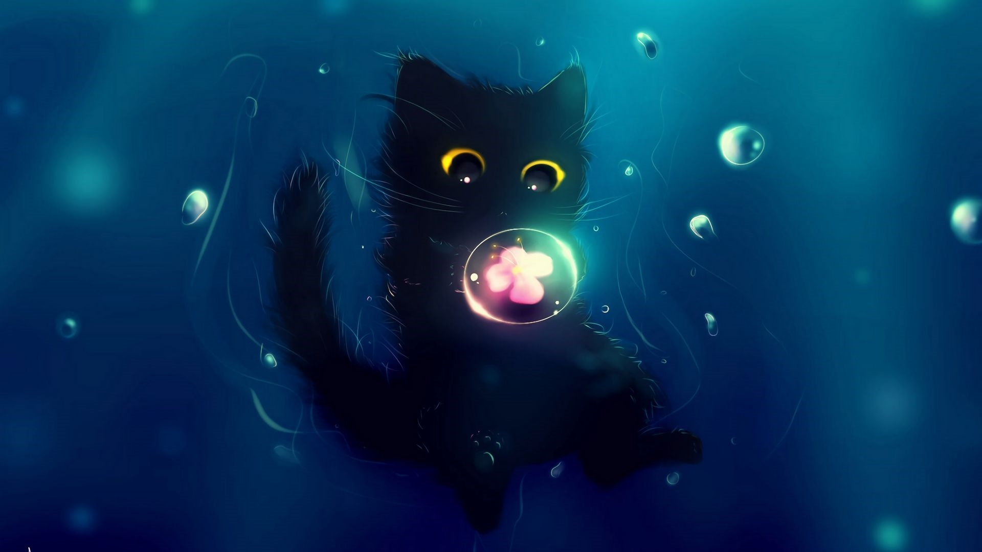 Drawn Cats wallpaper for pc