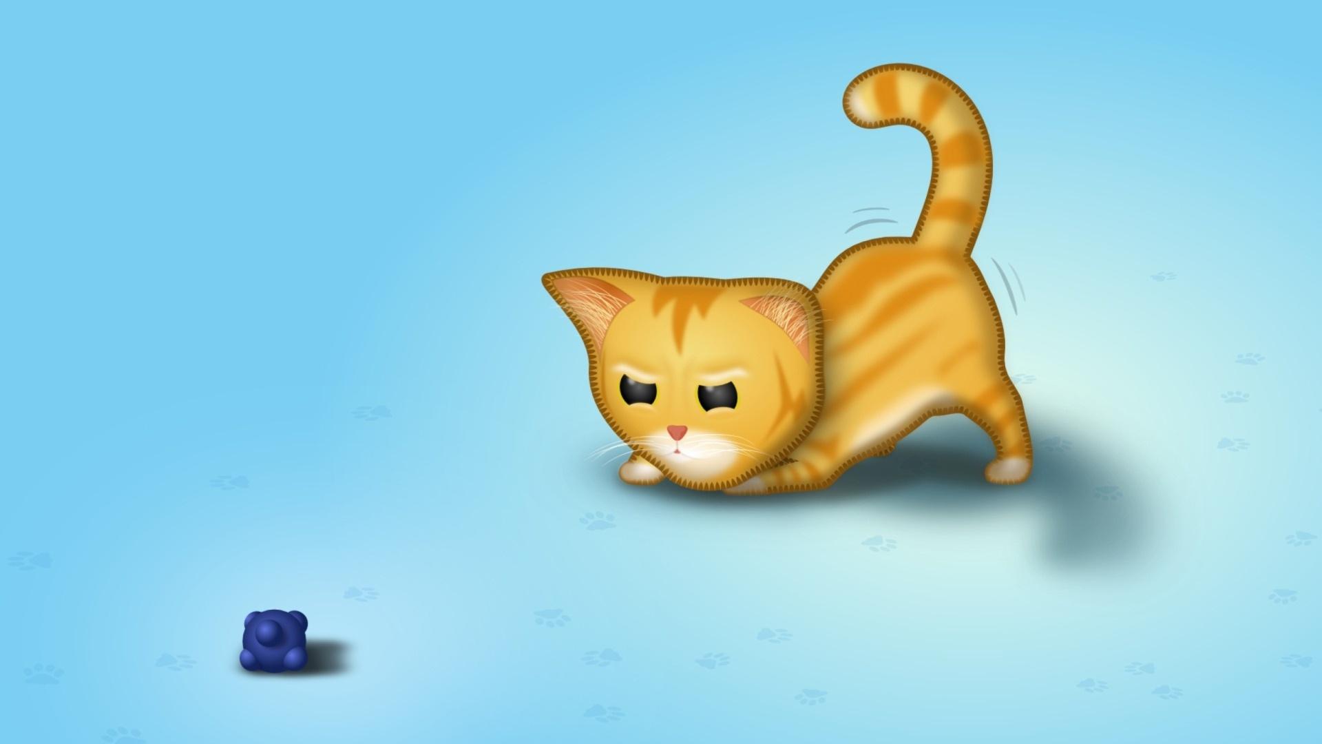 Drawn Cats wallpaper photo hd