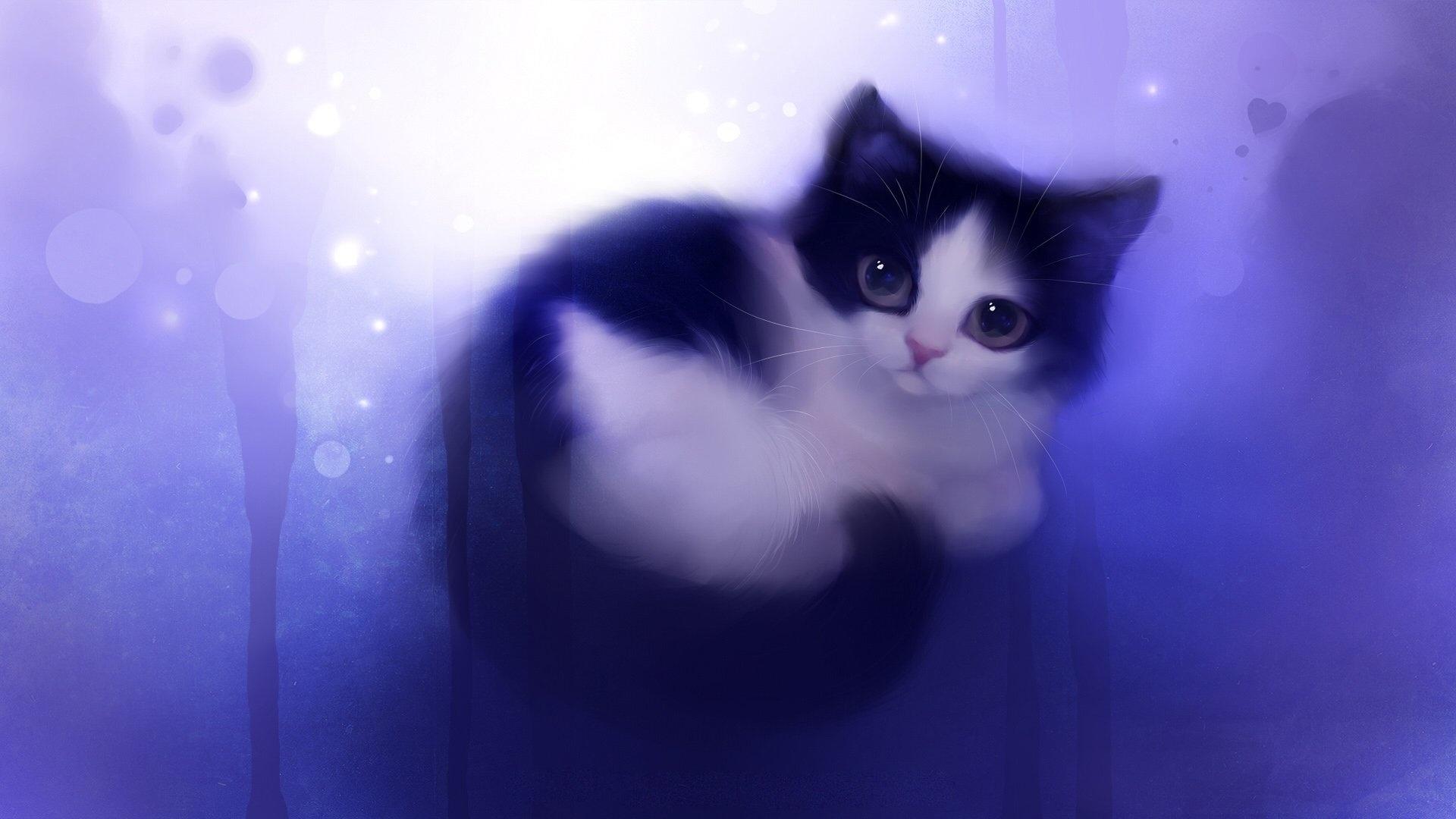 Drawn Cats Wallpaper theme