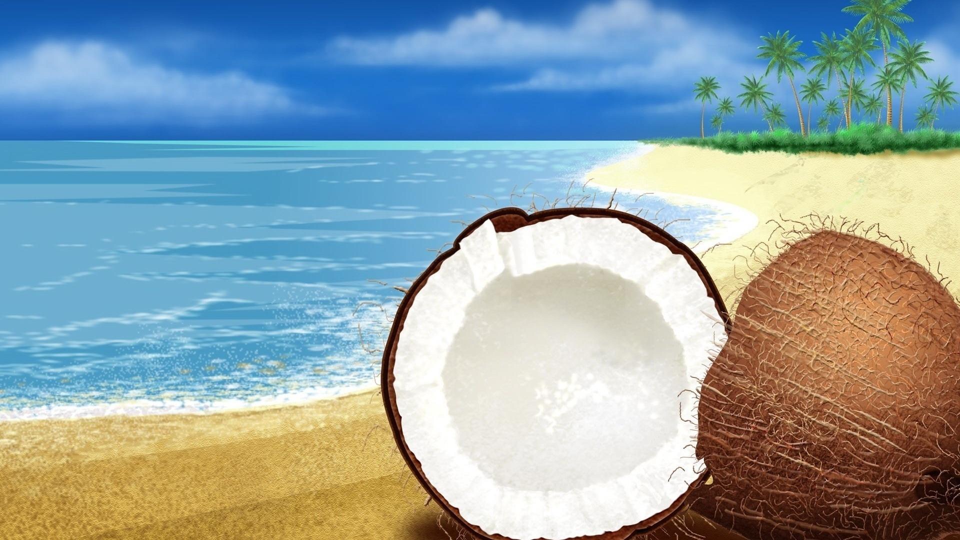Coconuts By The Sea pc wallpaper