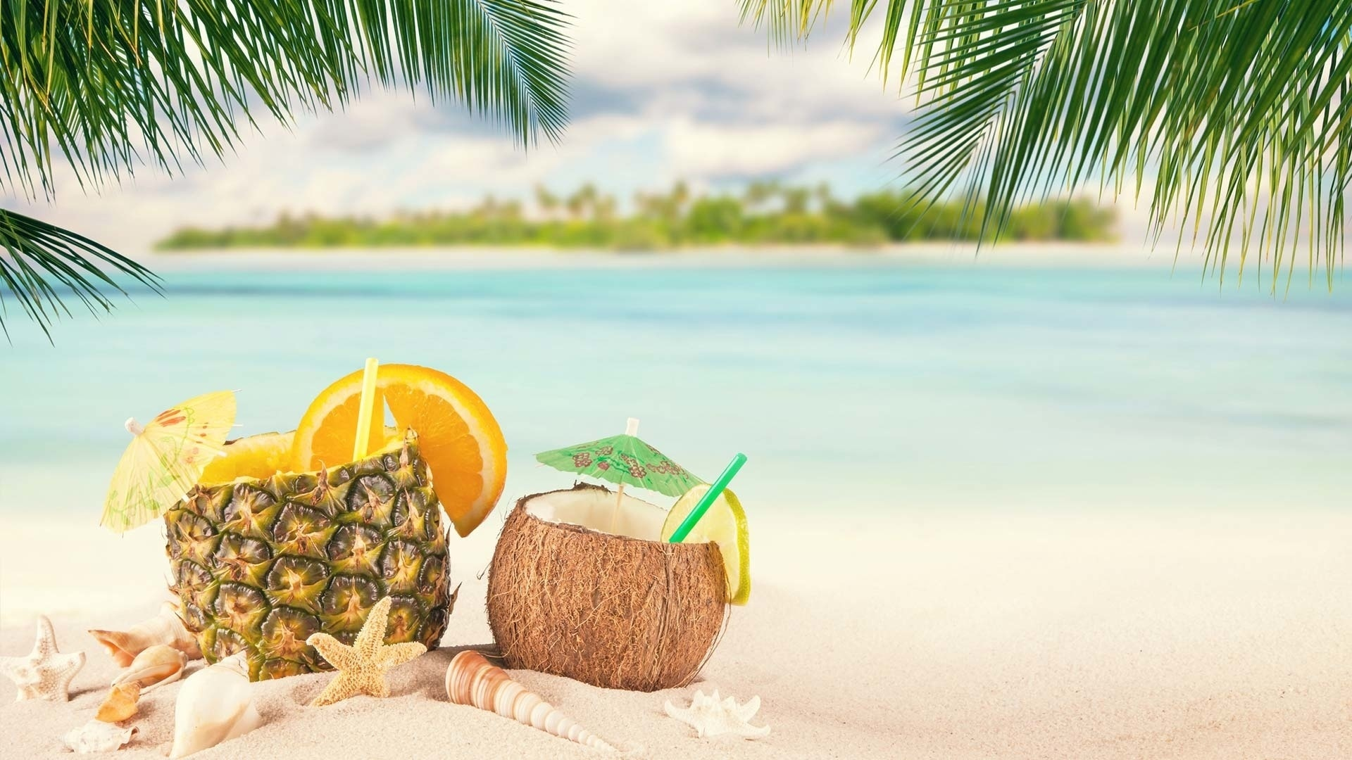 Coconuts By The Sea best background