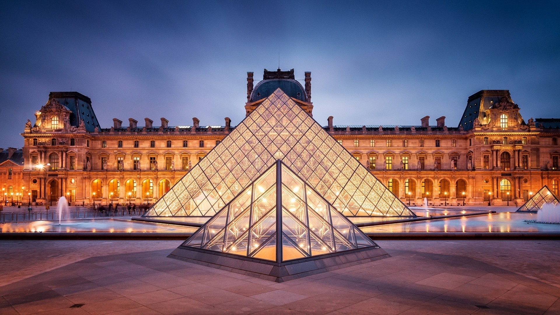 Louvre Museum 1920x1080 wallpaper