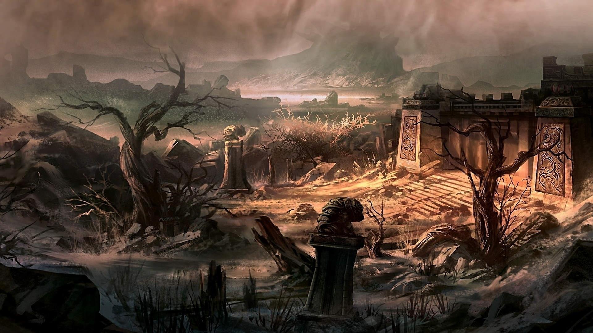 Ruins Art cool background