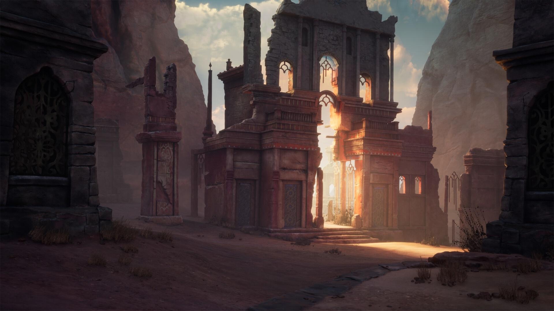 Ruins Art windows background