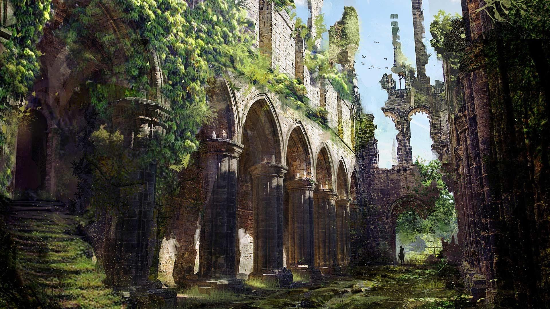 Ruins Art computer background