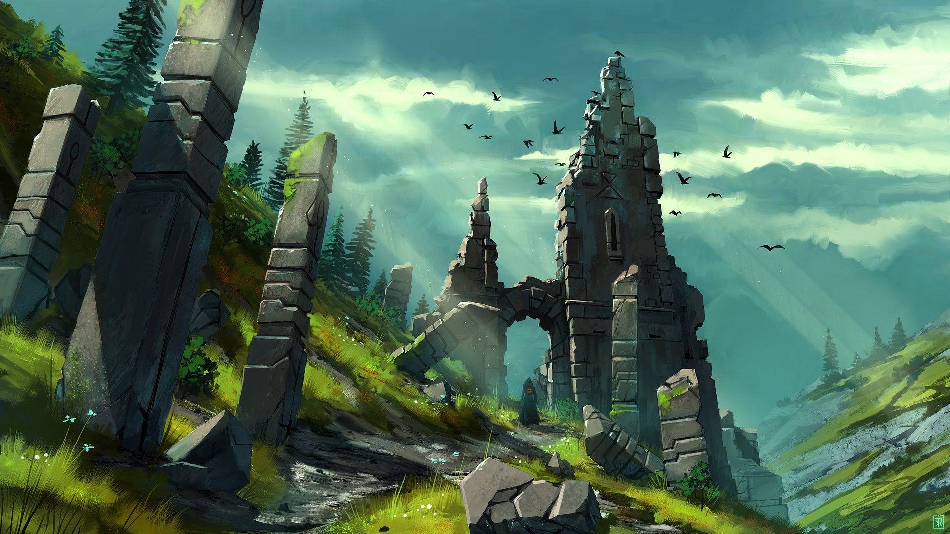 Ruins Art free image