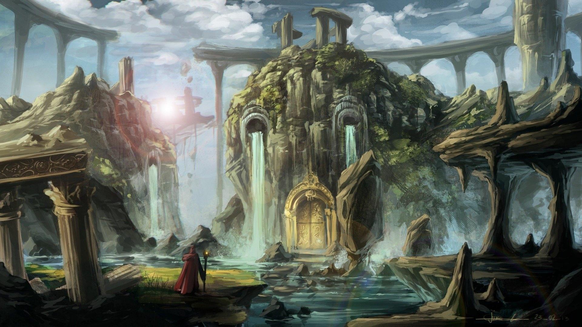 Ruins Art hd background