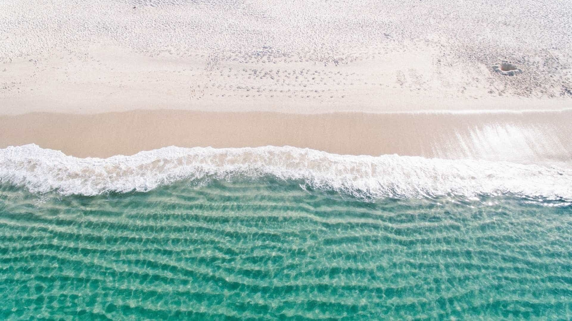Sea and Sand From Above windows wallpaper
