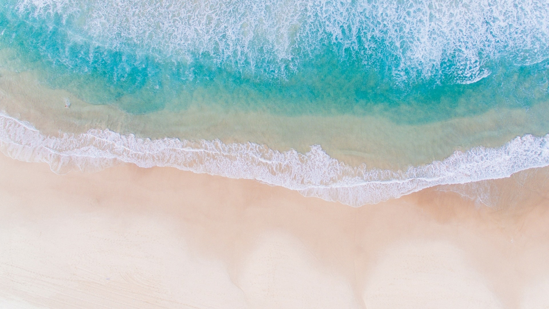 Sea ​​and Sand From Above hd background
