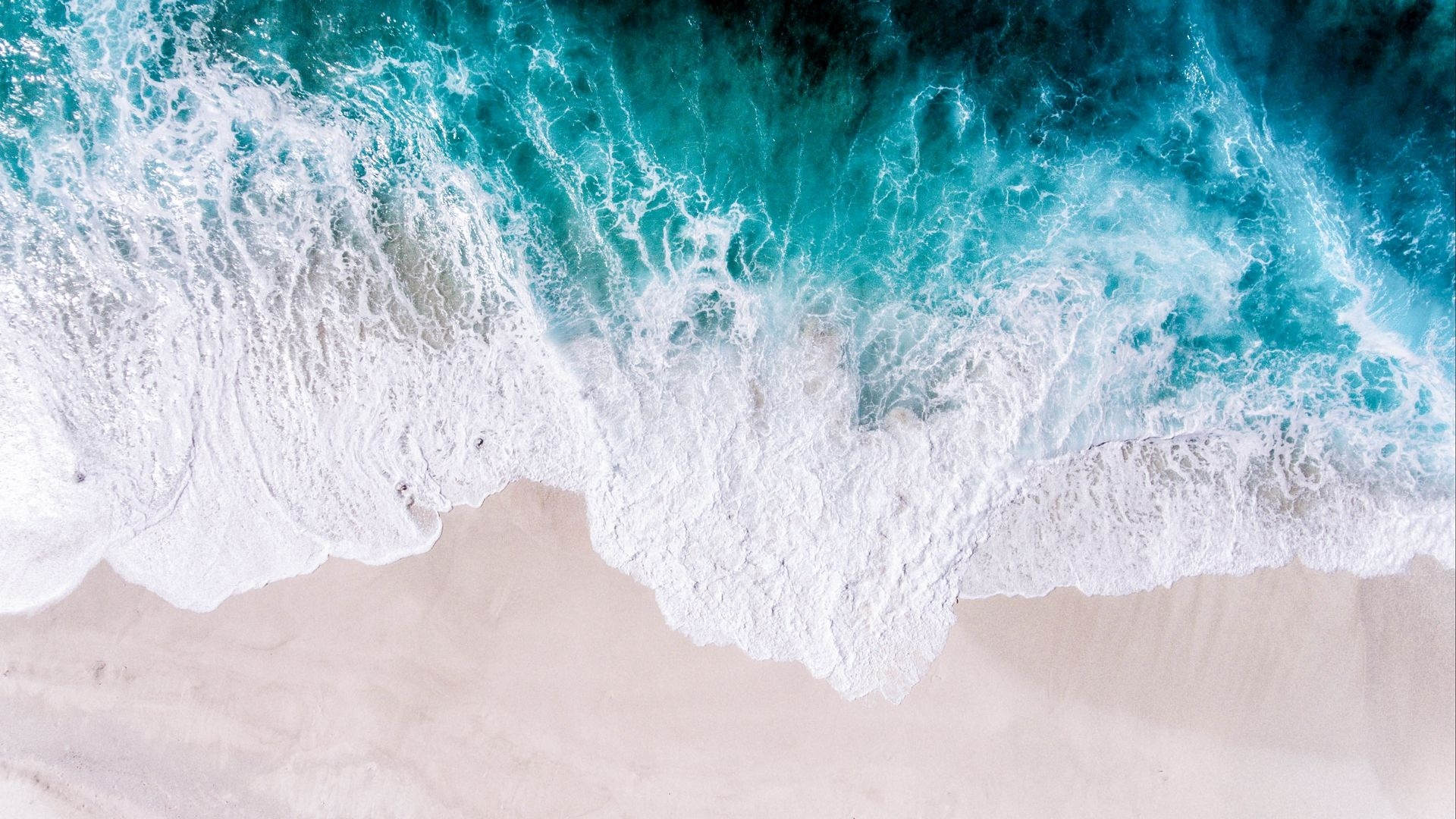 Sea and Sand From Above 1080p wallpaper