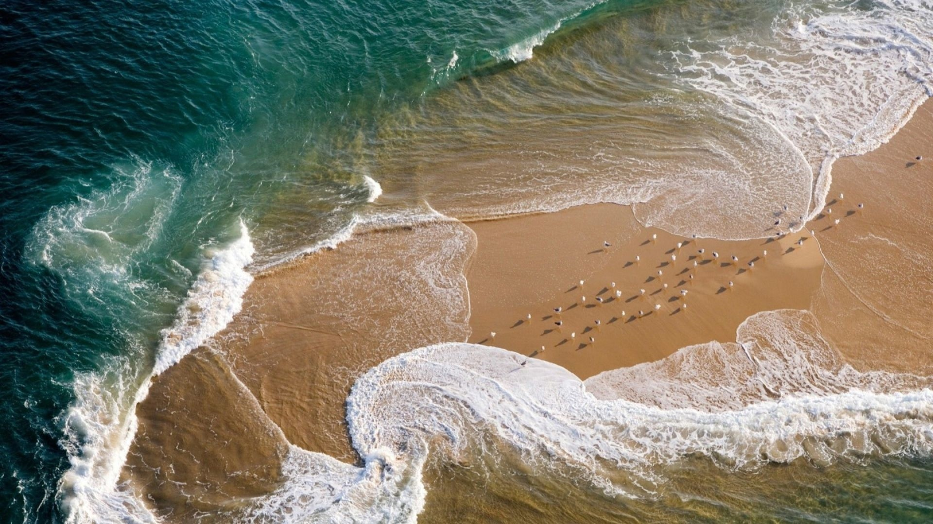 Sea and Sand From Above best wallpaper
