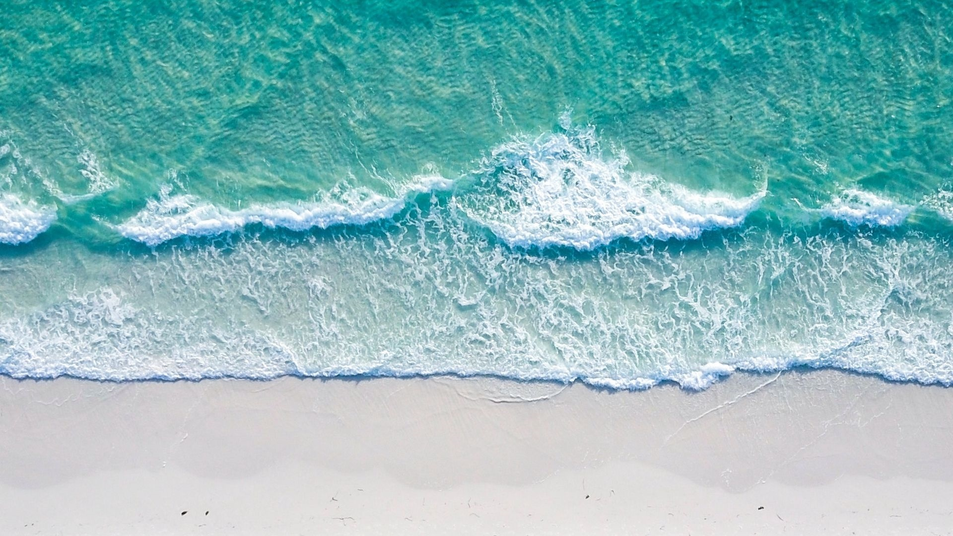 Sea and Sand From Above pc wallpaper