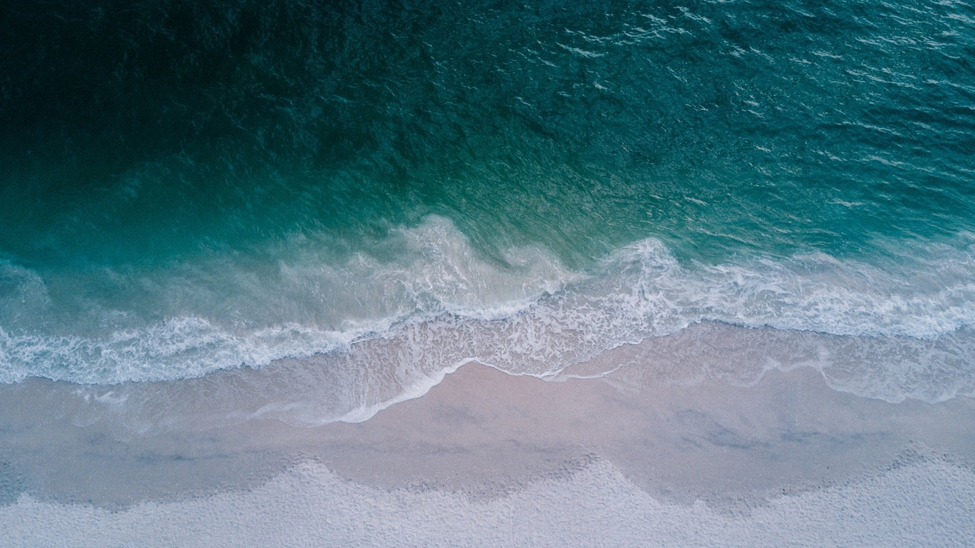 Sea ​​and Sand From Above laptop wallpaper
