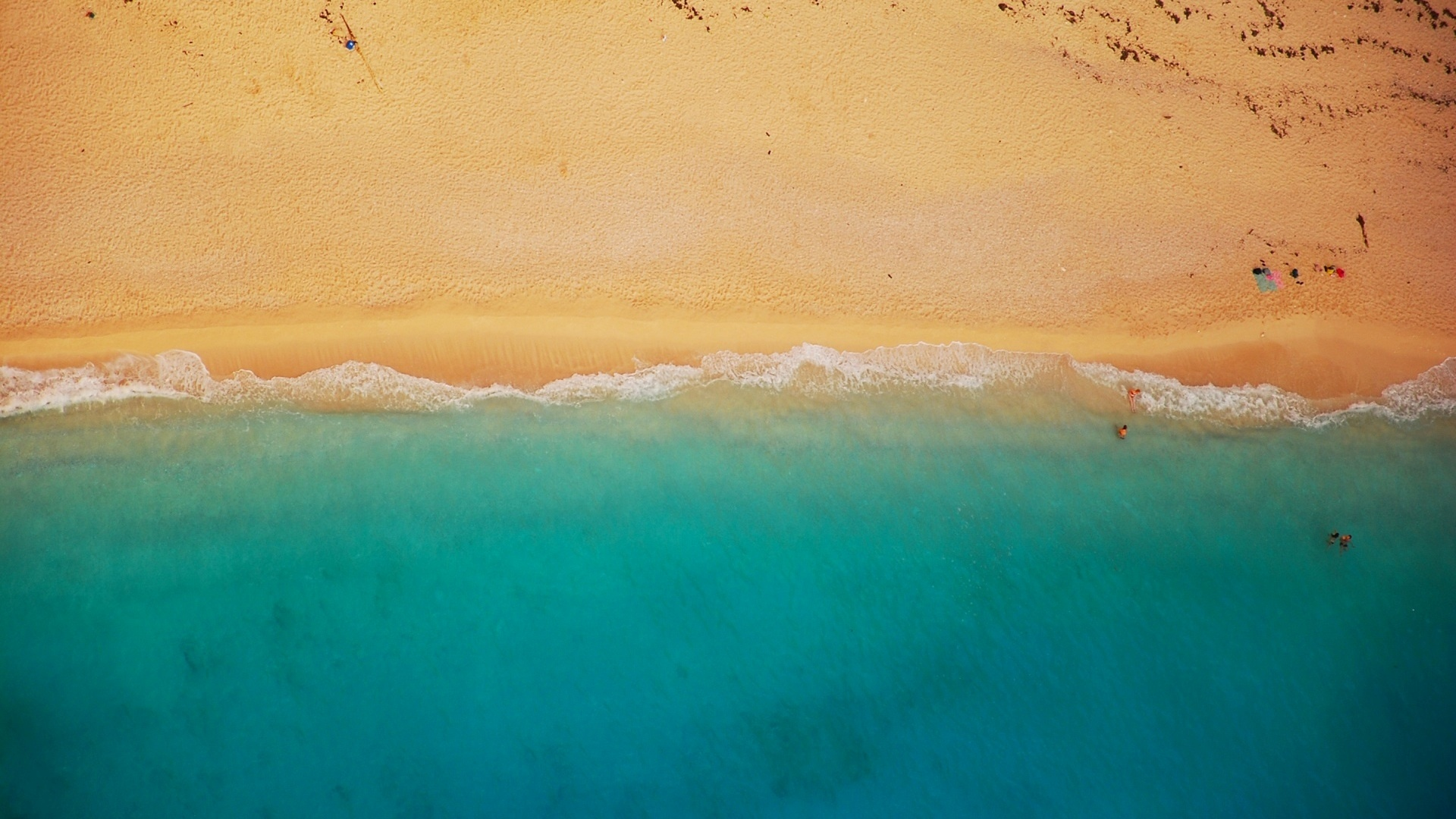 Sea and Sand From Above free photo