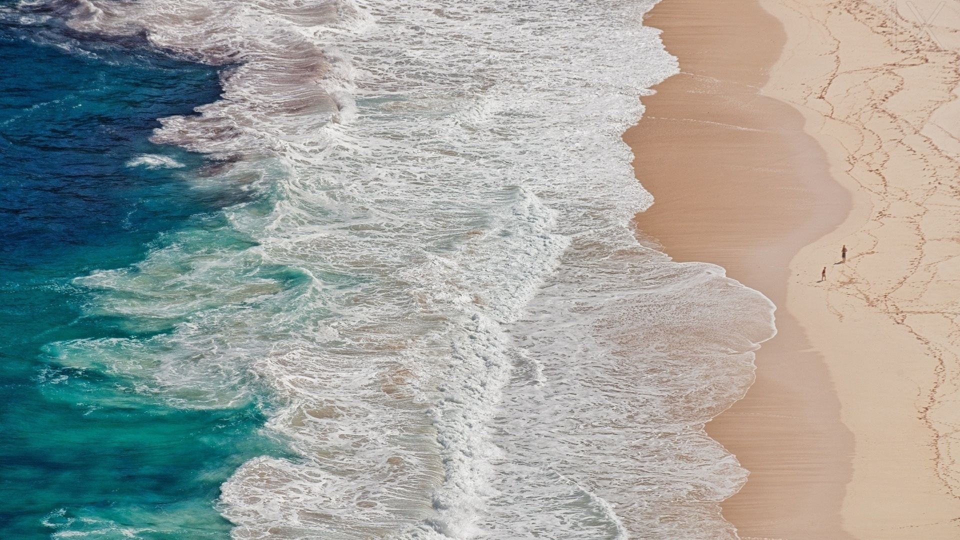 Sea and Sand From Above free picture