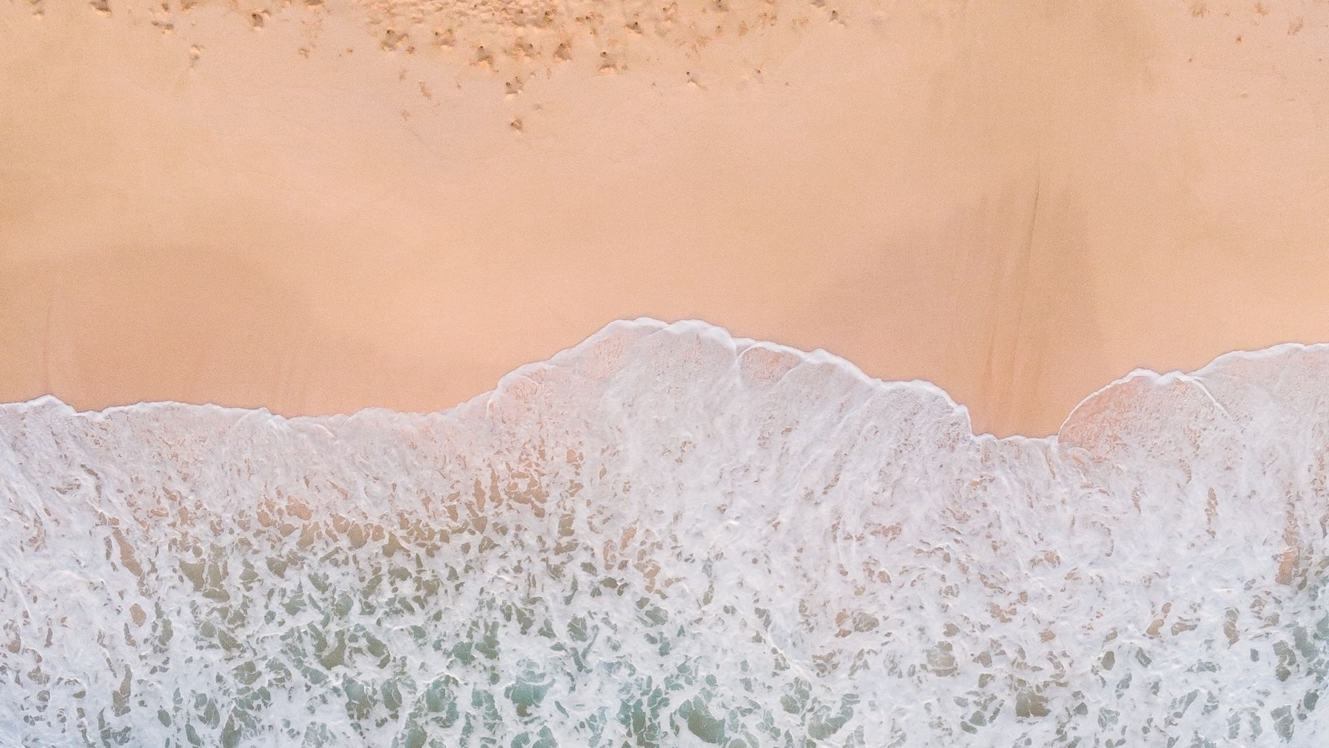 Sea ​​and Sand From Above desktop wallpaper free download