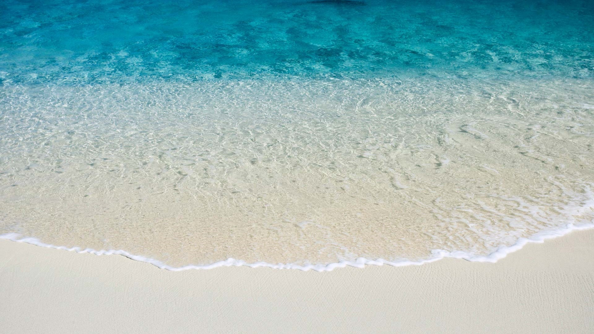 Sea and Sand From Above cool wallpaper