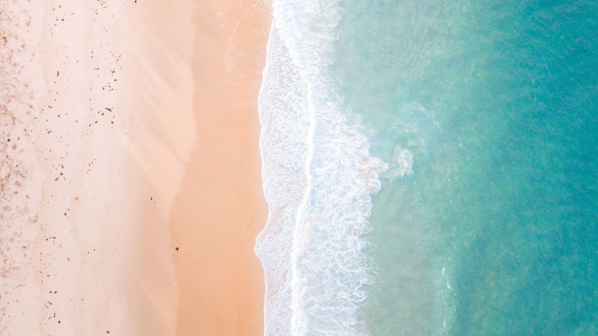 Sea and Sand From Above windows background