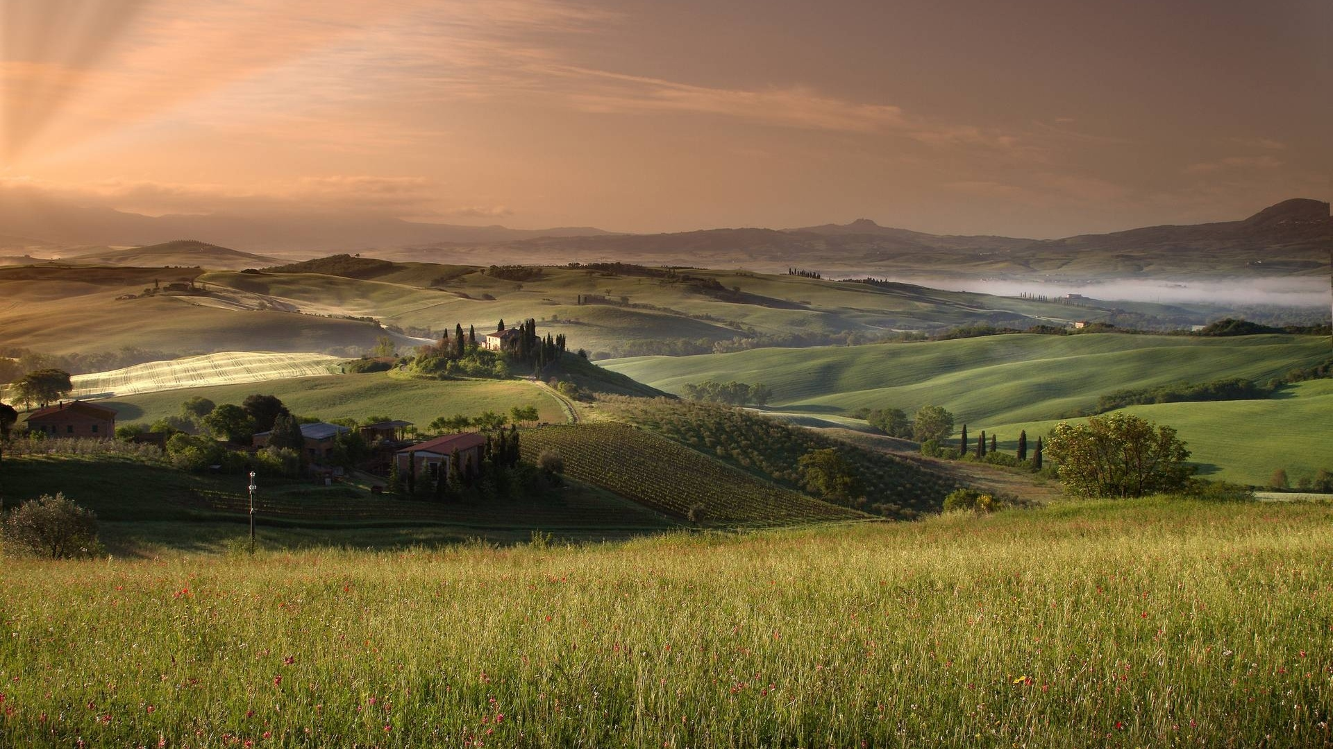 Tuscany background wallpaper