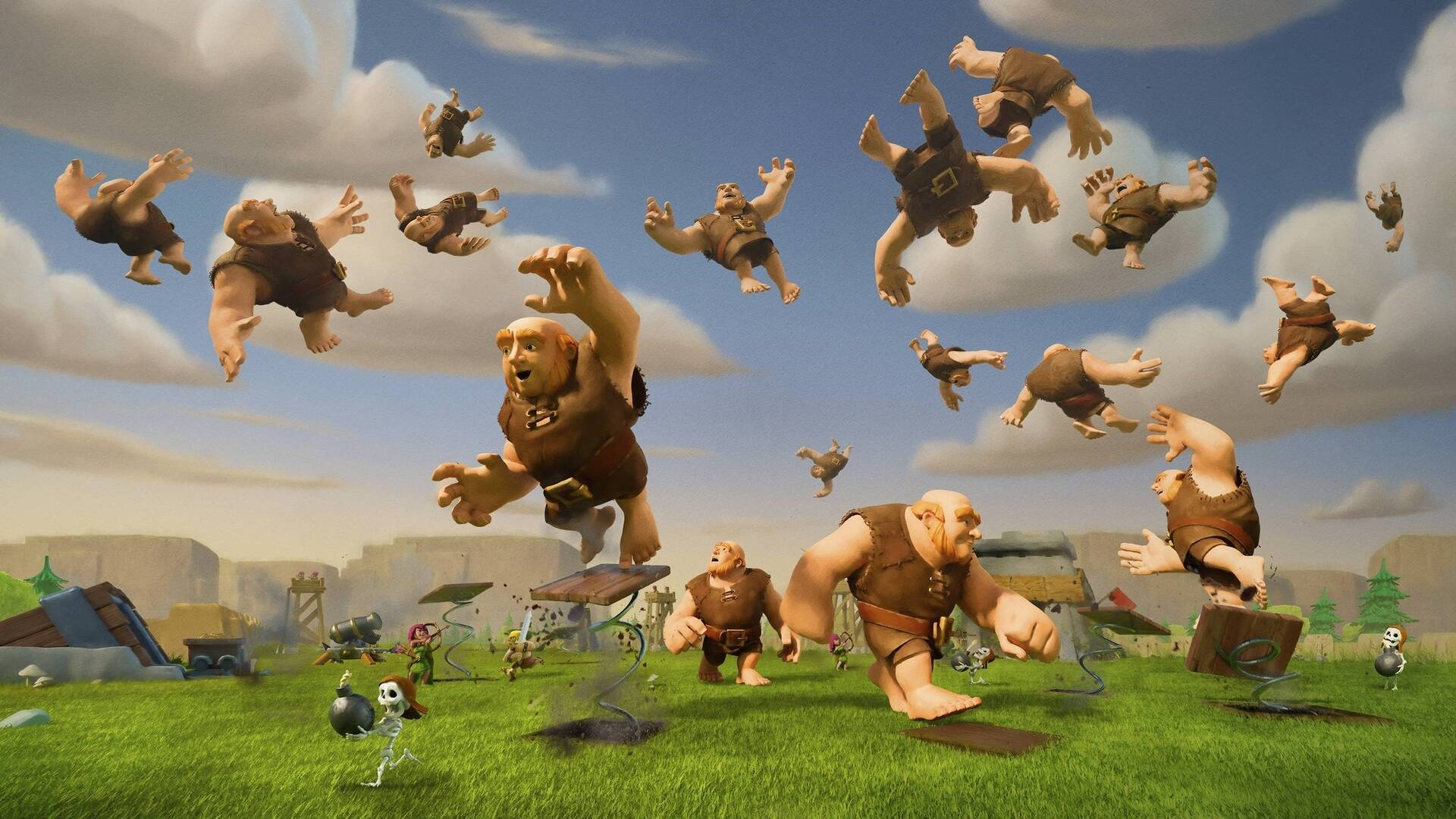 Clash Of Clans background wallpaper