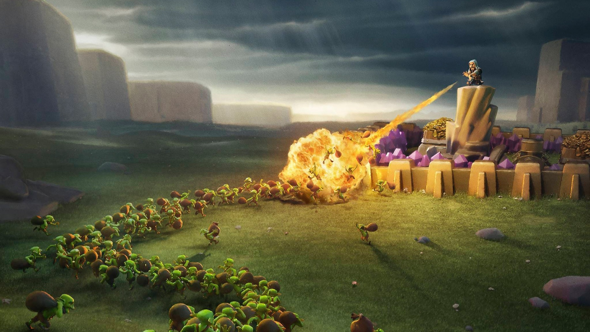 Clash Of Clans laptop wallpaper
