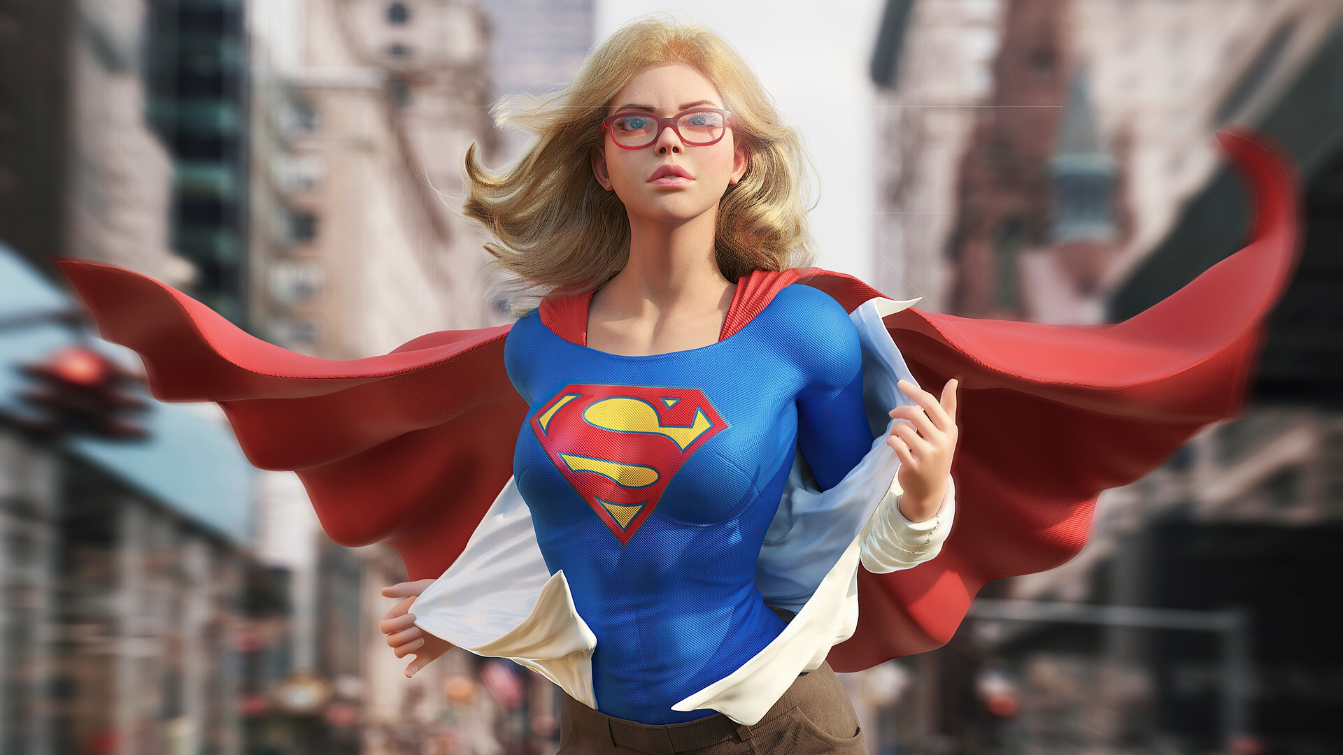 Supergirl background wallpaper
