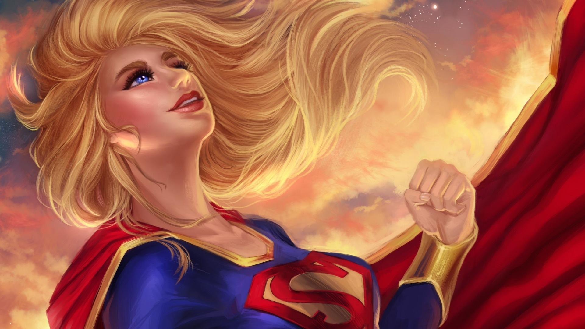 Supergirl computer background