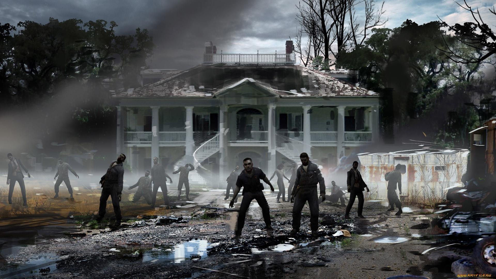 Zombie background wallpaper