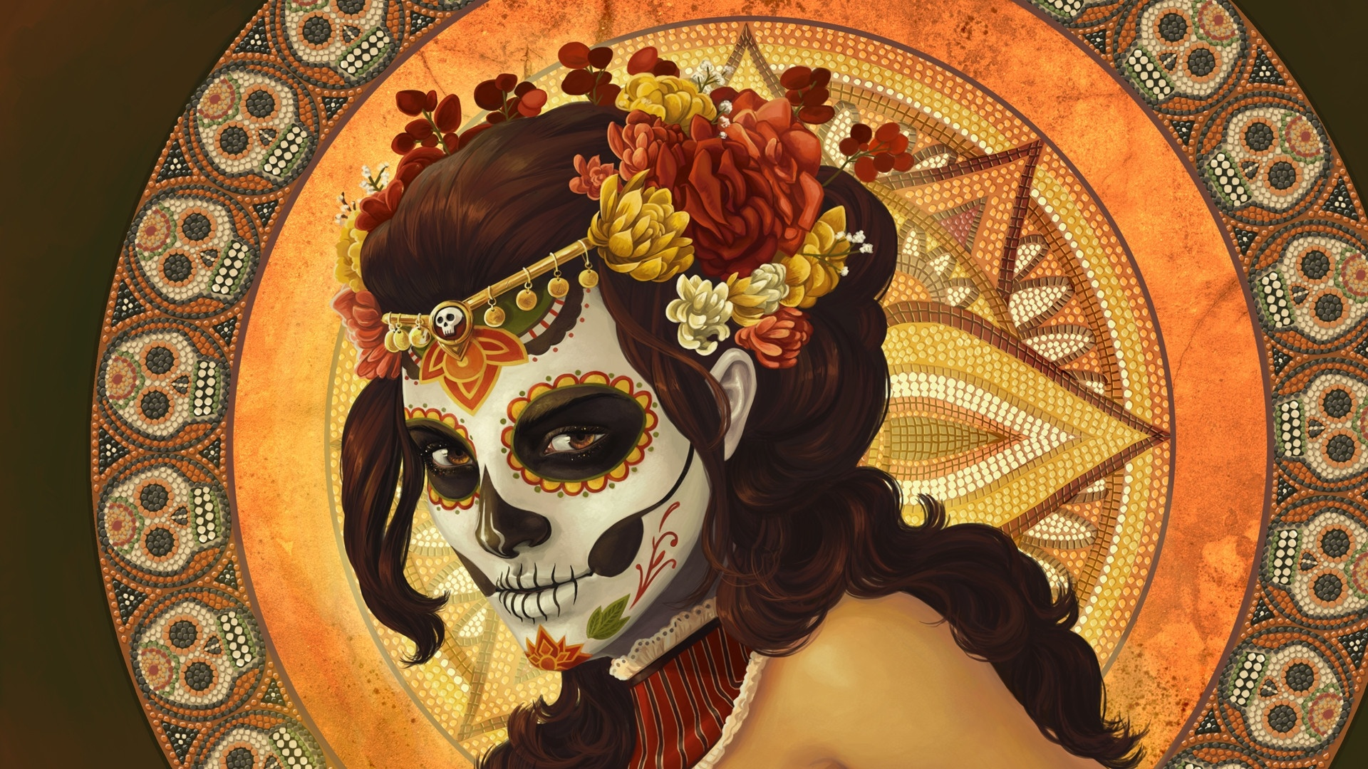 Day Of The Dead laptop wallpaper