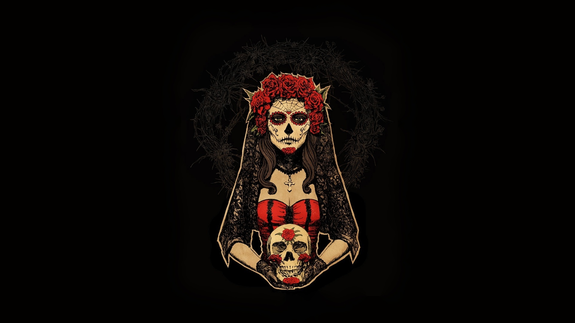 Day Of The Dead free background