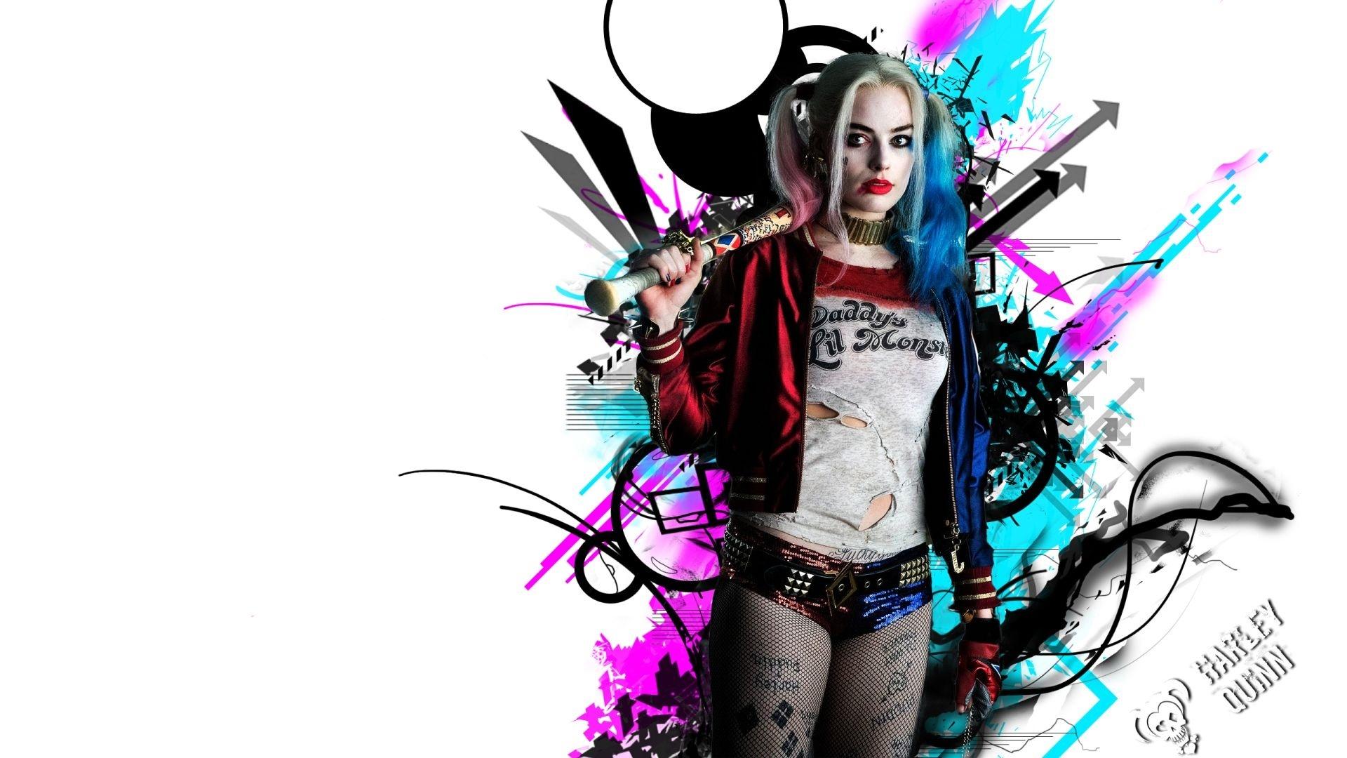 Harley Quinn background wallpaper