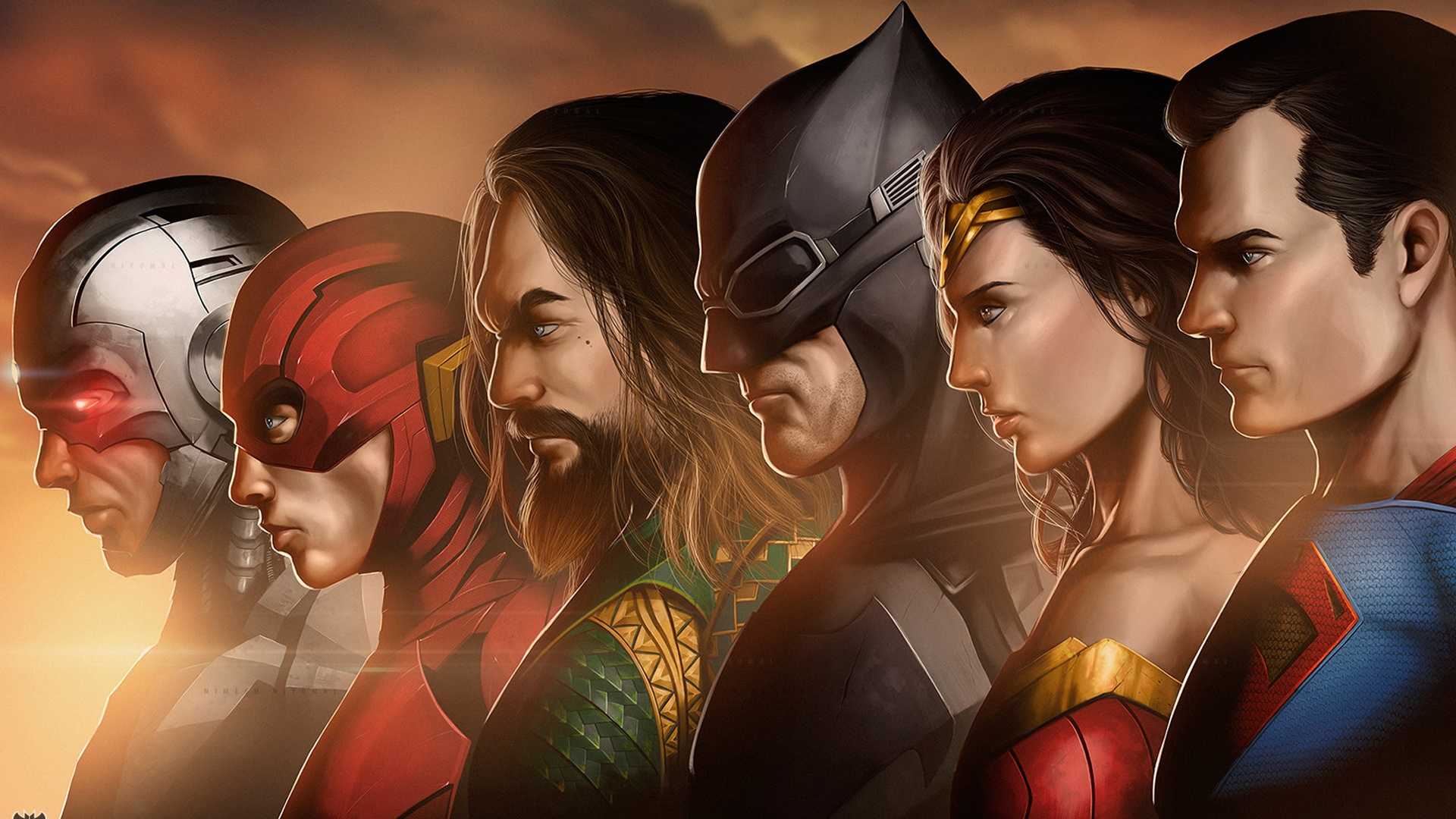 Justice League cool background