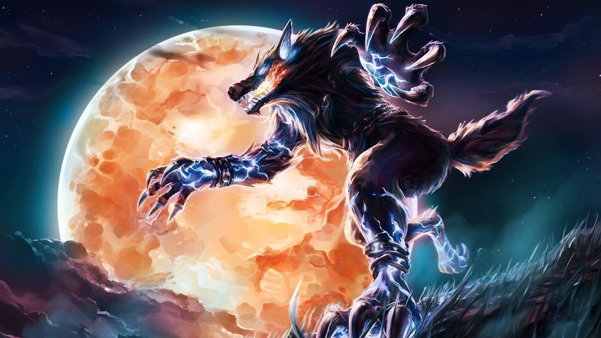 Werewolf cool background