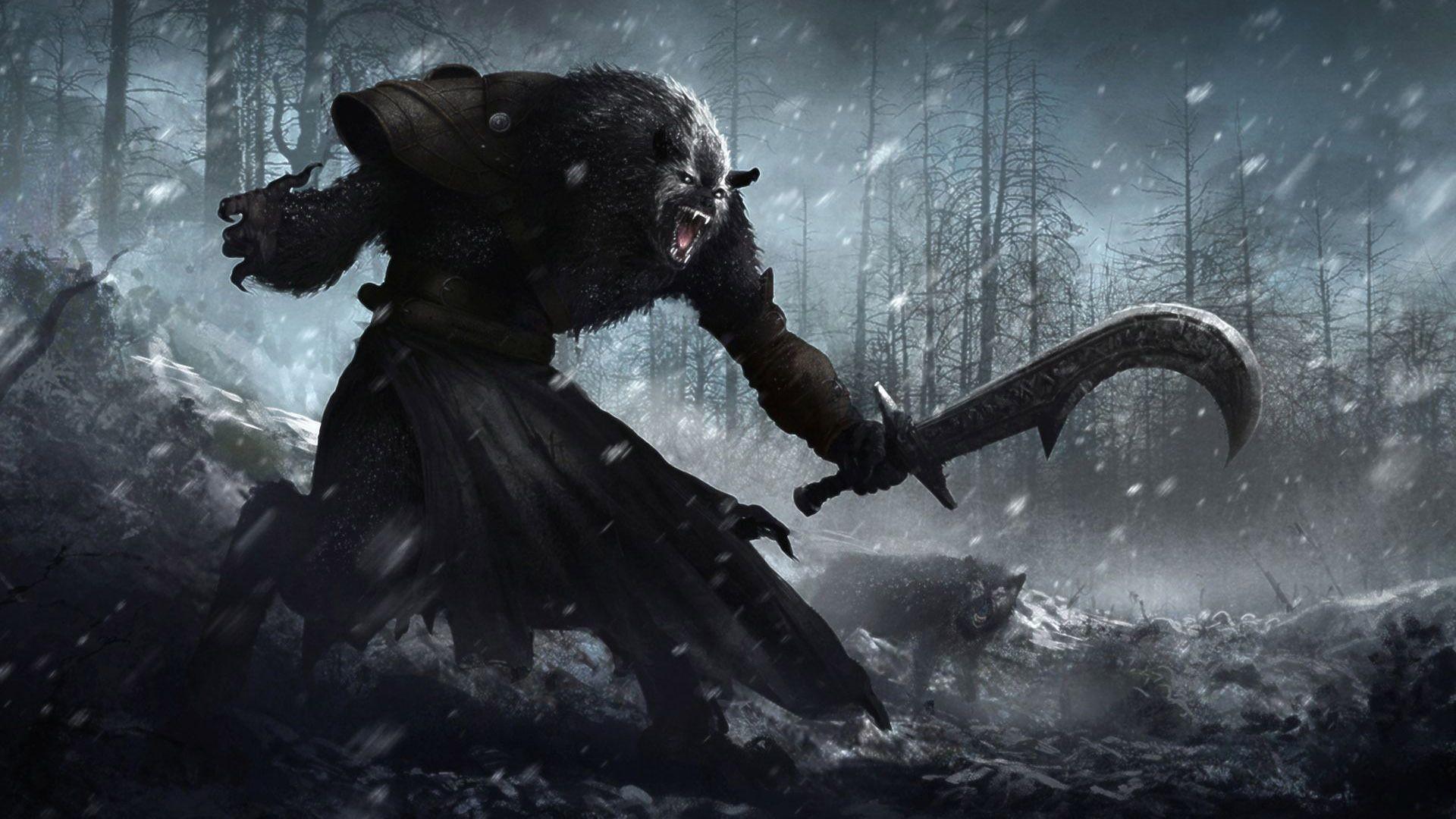 Werewolf cool wallpaper