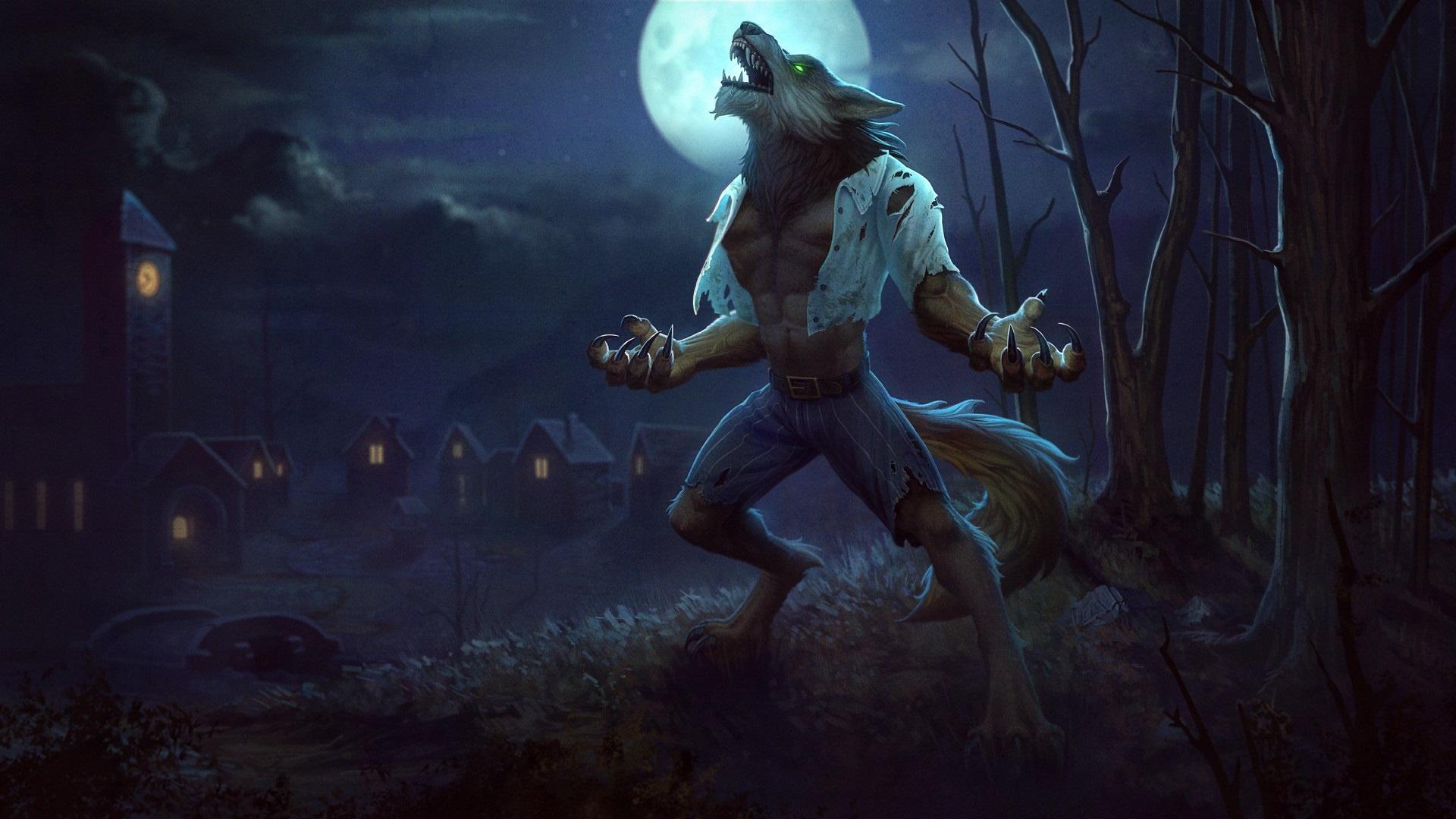 Werewolf computer background